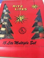 Christmas Tree Lights Vtg Ritz Lite Lot 2 String Sets 15 Bulbs Work Orig Box