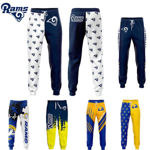 Los Angeles Rams Workout Sweatpants Gym Trousers Men's Athletic Jogging Pants