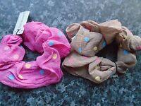 Coloured Polka Dot hair scrunchie fabric elastic bobble band pink black brown