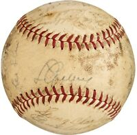 LOU GEHRIG DICKEY RUFFING 1938 NY YANKEES SIGNED AUTO AUTOGRAPH BASEBALL PSA/DNA