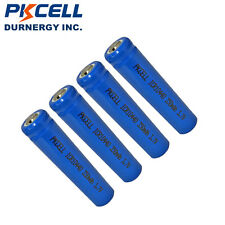 4× 350mAh AAA 10440 3.7V PKCELL Rechargeable Lithium Battery For Flashlight