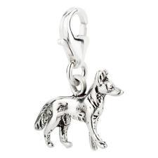 Charm / Anhänger Hund Schäferhund 1 mit Karabinerverschluß 925 Sterling Silber