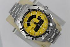 Tag Heuer CAF1011.BA0821 Yellow Aquaracer Watch Mens Chronotimer SS Mint Digital