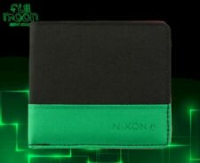 New Nixon Atlas Black Green Mens Bifold Wallet