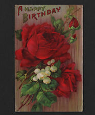 OPC Early 1900's Roses & Flowers Birthday Postcard