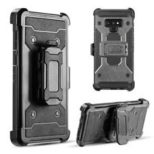 Hybrid Holster Case For Samsung Galaxy Note 9 Armor Rugged TPU Swivel Clip Cover
