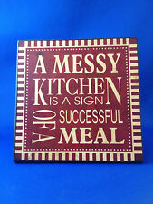 New Decorative wall plaque free standing counter art worded plaque kitchen decor