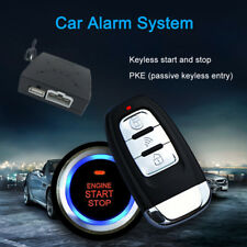 DC 12V PKE Car Alarm System Keyless entry Push button Engine Start Remote Key