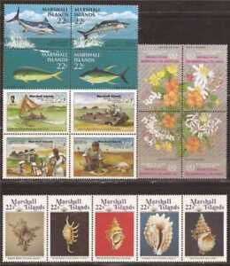 Marshall Islands - 1986 4 Different Complete Sets - Scott #115-31
