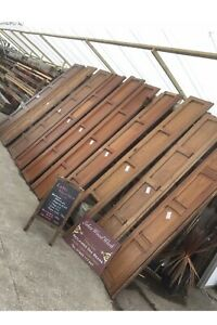 Set of ANTIQUE PITCH PINE PANELLING (Wall Panels, Job Lot, Ornate, Gothic)