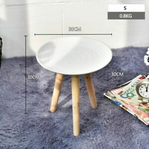 Round Nordic Wood Coffee Table Modern Living Room Furniture Home Bedroom Decor