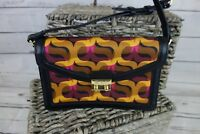 NEW Vera Bradley Tess Crossbody Handbag Genuine Leather Trim Modern Lights $128