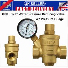 DN15 1/2'' Bspp Brass Water Pressure Reducing Valve With Gauge Flow Adjustable