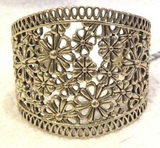 LUCKY BRAND GOLD LACE OPENWORK CUFF BRACELET, FLORAL DESIGN, NWT, $45!