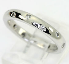 Platinum diamond wedding band ring Etoile Eternity 12 round brilliant .15CT sz 6