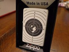 TARGET PRACTICE SHOOTING WHITE MATTE ZIPPO LIGHTER MINT IN BOX