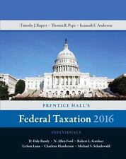 Prentice Hall's Federal Taxation 2016 Individuals by Kenneth E. Anderson, Timoth