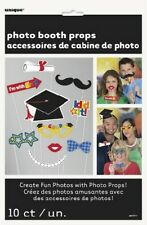 10PC GRADUATION PHOTO PROPS PARTY GRADUATE PAPER PHOTO BOOTH