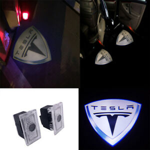 2X LED EMBLEM DOOR PROJECTOR GHOST SHADOW PUDDLE LOGO LAMP For Tesla Model 3 X S