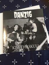 DANZIG KISS THE SKULL LIVE FAN CLUB CD. GLENN DANZIG MISFITS FIEND CLUB. PUNK