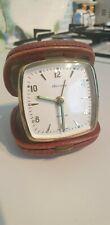 Vintage folding travel alarm clock