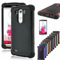 """LG G3 Hybrid Heavy Duty Armour Tough Cover Case D852 5.5"""" from Canada"""