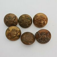 South African Defence force set of 6 16mm buttons various makers