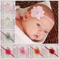 Baby Headband Newborn Toddler Headbands Girls Pink Flower Hair Band