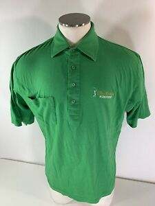 Vintage CBS Sports The Masters Green Polo Shirt Employee August National Golf XL