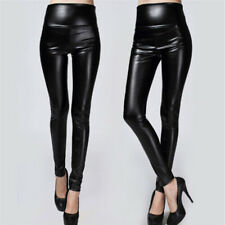 Thickened Leggings SKINNY Pants Women Leather Warm Pantshigh Waisted Trousers Wo