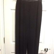 DKNY Donna Karan Black Tuxedo Style Dress Pants Slacks Wool 10