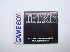 Notice d'origine instruction manual pour jeu game boy Tetris
