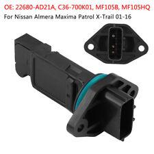Mass Air Flow Meter Sensor For Nissan PATROL GU ZD30DDTi N16 PULSAR 1.6 1.8