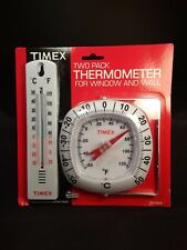 Timex 2 Pack Thermometer For Wall & Window