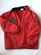 Vintage Navigare Mens Tech Marine Jacket Red Made In Italy Mens Large Adjustable