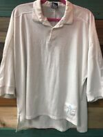 OP Ocean Pacific Mens VINTAGE Collard Shortsleeve White Shirt Size Large