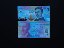 SERBIAN GENIUS AND INVENTOR NIKOLA TESLA  $1  NOTE   DATE  2013   * MINT UNC *