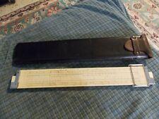 1947 K&E Keuffel & Esser Co. Log Log Duplex Decitrig N4081-3 Slide Rule W/ Case