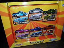 TARGET EXCLUSIVE MATCHBOX TIN 6 CAR SUPERFAST SET 2005 DECOS MUSTANG 1 of 20,500