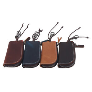 Vintage Key Wallet Keychain Covers Zipper Case Bag Key Holder Keys Organizer YG