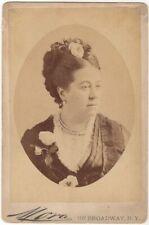 *GREAT 19TH CENTURY OPERA SOPRANO THERESE TIETJENS 1876 MORA CABINET PHOTO*