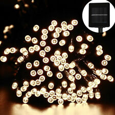 200 LED Solar String Fairy Light Outdoor Party Xmas Tree Waterproof AU Warm White