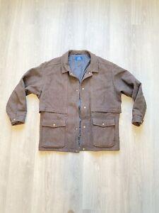 vtg lobo pendleton men's brown jacket xl wool blend thinsulate