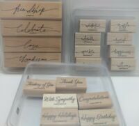 Stampin' Up Warm Wonderful Words Three Sets 18 Stamps For Cards Cardmaking