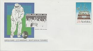Norfolk Island Bounty Bowling Tournament Pre-paid First Day Cover 1982