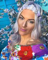 Ice Queen Purple Sea Shell Mermaid Crown Rose Quartz Hair Band Choochie Choo