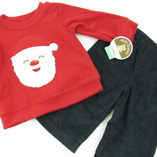 Child Of Mine Baby Boy Christmas Outfit 6-9 Months Santa Sweatshirt Pants