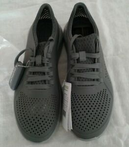 Men's Crocs Literide Pacer M  Size 9  Charcoal/Light Grey Relaxed Fit  NWT