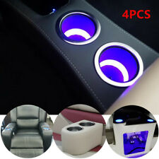 4PCS Stainless Steel Marine Boat Car Truck RV Cup Drink Holder Blue LED Built-in