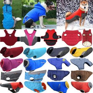 Medium Large Dog Winter Warm Fleece Jacket Coats Comfy Vest Sweater Pet Apparels